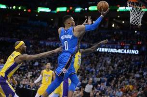 thunder, lakers get acquainted again