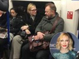 cate blanchett and her director husband on the tube