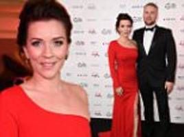 dancing on ice's candice brown steps out with fiance