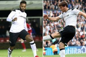 can derby county recall chris martin or darren bent? here's what we know