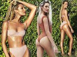 candice swanepoel displays her pre-pregnancy body