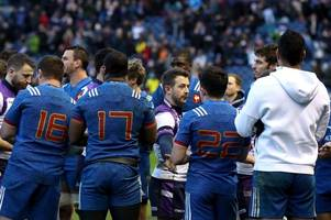 french rugby team's plane stopped from taking off in scotland as police question players following alleged brawl