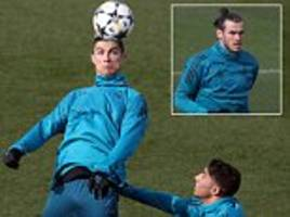 real madrid train ahead of champions league clash with psg