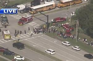 Florida high school on lockdown after shooting with 'at least 50 injured'