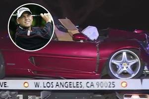golf star bill haas survives fatal ferrari crash that killed driver of car he was travelling in