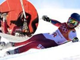 WInter Olympics: Lara Gut horrific crash in giant slalom