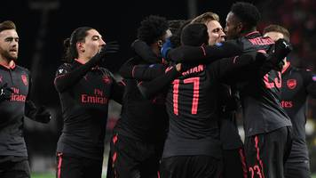Arsenal ease to first-leg Europa League win at Ostersunds FK