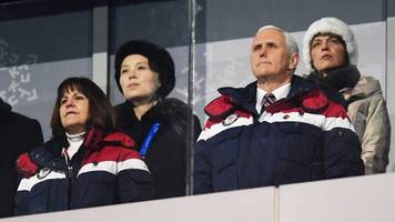 mike pence says he ignored kim jong-un's sister at the winter olympics