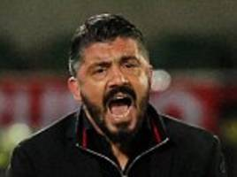 gatusso angered by ac milan's 3-0 win in europa league