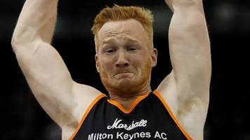greg rutherford wins british indoor long jump title in birmingham