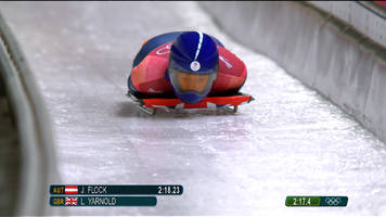 winter olympics: lizzy yarnold moves up to second in women's skeleton