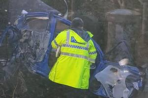 Boy, 15, and man, 72, confirmed dead in 'extremely tragic incident' as car collides with train at Horsham level crossing