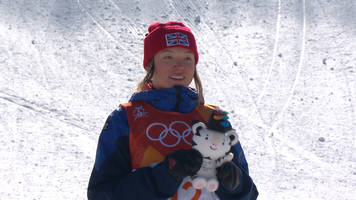 Winter Olympics 2018: Team GB's Izzy Atkin wins bronze medal in women's slopestyle
