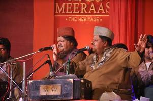 mumbai celebrated an evening of quality literary poetry with famous sufi singers fareed sabri and ameen sabri