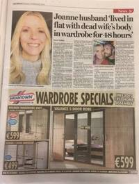 Juxtaposition fail: Irish Herald flogs wardrobes by a dead woman's body