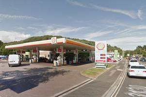 Firefighters tackle dangerous blaze on Shell petrol station forecourt near Bristol