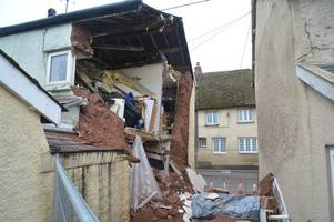 cob cottage collapses moments after earthquake - now owner and his dog are forced to live in the kitchen