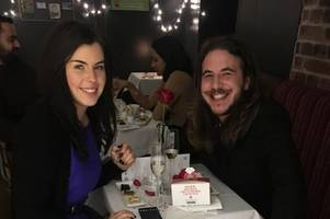 hemel hempstead couple got engaged on valentine's day in the same greggs branch where they met and fell in love