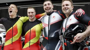 Winter Olympics: Canada and Germany tied for gold in two-man bobsleigh
