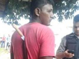 Brazilian man stabbed in the back with a kitchen knife