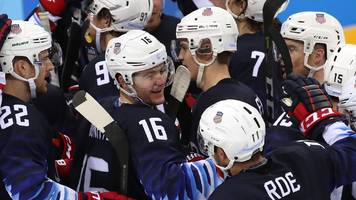 Winter Olympics: USA beat Slovakia to reach men's ice hockey quarter-finals