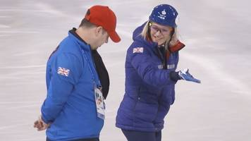 winter olympics: elise christie returns to the ice after injury