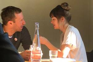 coldplay's chris martin spotted on brunch date with his actress girlfriend