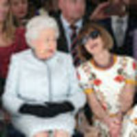 The Queen's London Fashion Week debut alongside Vogue's Anna Wintour