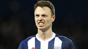 west brom: jonny evans set to regain captaincy against huddersfield