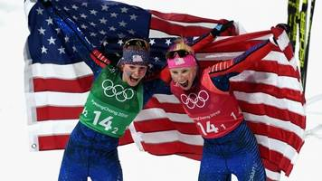 american cross-country skiers win historic olympic gold medal