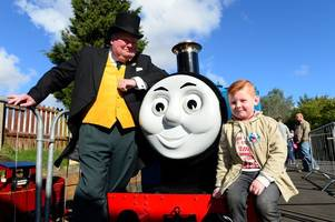 thomas the tank engine is heading to devon - and he's bringing the fat controller with him