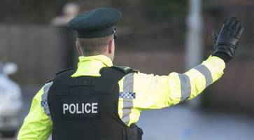 two men arrested under terrorism act after van stopped in lurgan