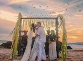boris's brother's beach wedding with brazilian bride