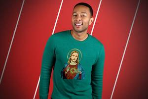 is john legend's jesus costume really just this white t-shirt? we asked nbc