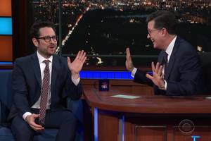 jj abrams goes on colbert and claims that 'star wars: episode ix' has a script (video)