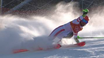 Winter Olympics 2018: Double gold medallist Marcel Hirscher crashes out of the men's slalom