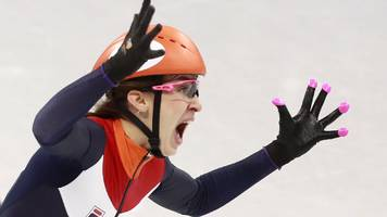 winter olympics: koreans crash as schulting wins gold