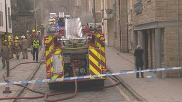 firefighters tackle blaze in flats in edinburgh's old town