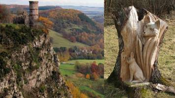 fox and rabbit tree carving stolen