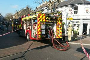 First pictures show Burger King diners evacuated after Gillingham branch catches fire