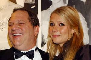 court hears weinstein 'harassed' gwyneth paltrow and was confronted by then-boyfriend brad pitt
