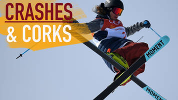winters olympics: crashes & corks – wise wins epic ski halfpipe final