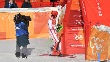 Austrian Marcel Hirscher Disqualified From Men's Slalom in Bid for Third Gold Medal of 2018