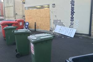 images show devastation at co-op in frome after crash involving customer vehicle