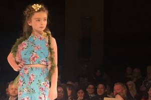 six-year-old welsh model appeared at london fashion week and is now off to the milan catwalk
