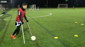 cambridge united: in training with amputee footballers