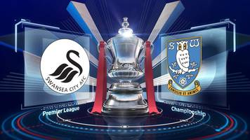 fa cup: swansea 2-0 sheffield wednesday highlights