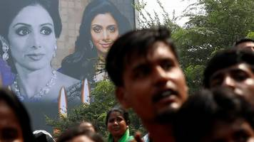 crowds say goodbye to bollywood's sridevi