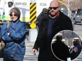 louis c.k. is joined by parker posey for a walk around ny