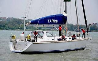 indian navy sailboat, insv tarini arrives in cape town, south africa